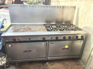 Tri Star 72 natural Gas Range 6 Burner With Griddle Stainless Steel