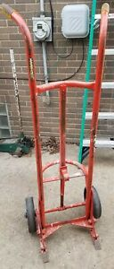 Hand Strongway Drum Truck Up To 55 Gallon 2 wheel Steel 1000 pound Load Capacity