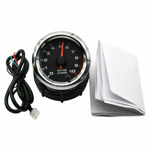 2 52mm 12v Universal Digital Led Rpm Tacho Tachometer Gauge Led 0 10000 Rpm