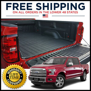 Dualliner Fof1555 Bed Liner For 15 2018 Ford F 150 5 5ft Bed W factory Light Bar