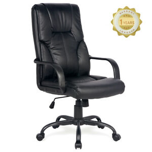 High Back Task Ergonomic Computer Desk Chair Executive Swivel Office Chair Black