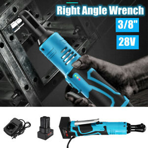 28v 3 8 60nm Electric Cordless Ratchet Right Angle Wrench Tool Set