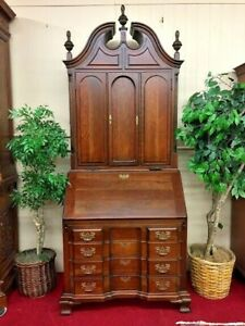 Maddox Cherry Blind Door Secretary Desk Two Piece Delivery Available