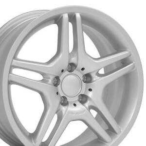 18 Amg Style Wheels Silver Set Of 4 Rims Fit Mercedes C E S Class Slk Clk 35mm