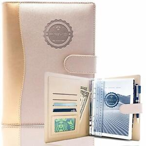 12 pack Rose Gold Faux Leather 4 in 1 Daily Planner Organizer Notebook Non dated