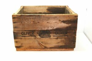 Rare Oliver Typewriter Wooden Shipping Crate Wood Advertising Box Unique Old