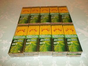 Lot 40 Dozen 480 Dixon Ticonderoga 2 Hb Soft Lead Pencils W Erasers 13924