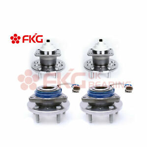 Front Rear Wheel Hub Bearings For Chevy Impala Monte Carlo W abs 512237 513121