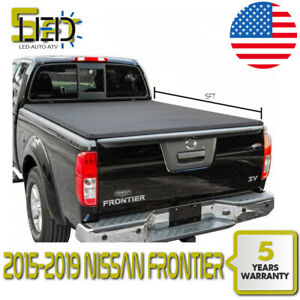 For 15 19 Nissan Frontier Kc 5ft Short Bed Soft Roll Up Tonneau Cover