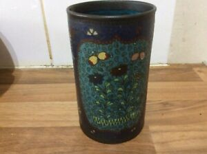 Beautiful Antique Japanese Cloisonne Brush Pot