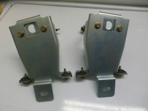 1971 1972 1973 Ford Mustang Hood Pin Radiator Support Brackets Pair New