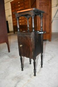 Antique Small Smoke Tobacco Stand Or Humidor By H J Cushman Mfg Co Vermont