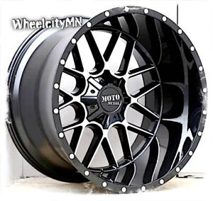 22 X10 Gloss Black Machined Moto Metal Mo986 Siege Rims Ford F250 F350 8x170 18