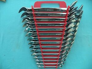 Large Snap On Sae 4 Way Angle Wrench Set Vs814a 3 8 1 1 4 15 Pc W Rack Mint