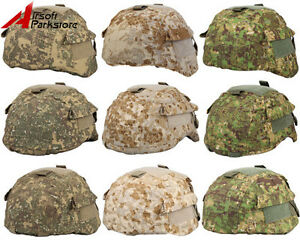 Tactical Military Airsoft Hunting Camo Helmet Cover for MICH 200020012002 ACH