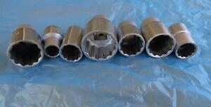 7 Wright Tools Sae Sockets 1 2 Drive Made In Barberton Ohio Usa