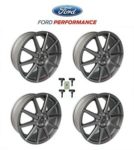 2013 2018 Ford Focus St Oem 19 X 8 Matte Gray Wheels Set Of 4 W Tpms Kit