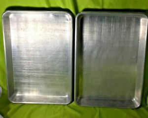 Commercial Dura ware Aluminum 17 X 25 Sheet Pan Half Size 1822 Lot Of 2