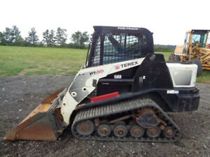 2010 Terex Pt50 Skid Steer Loader Cab heat Pilot Controls Hyd Qc 2 454 Hours