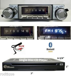 1966 1967 Cutlass Bluetooth Stereo Radio Cd Player Multi Color Display 740