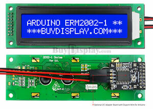 Blue Iic i2c twi Character 20x2 Serial Lcd Module Display For Arduino W library