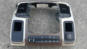 14 Dodge Ram 3500 Woodgrain Dash Trim Radio Bezel Trailer Brake Controller