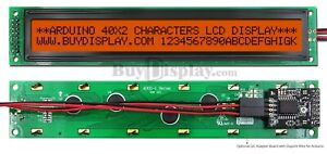 Amber Iic i2c twi Character 40x2 Lcd Display Module For Arduino W wire library