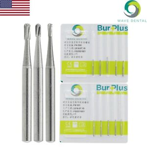 Wave Dental Tungsten Carbide Burs Crown Removal 1 6mm Pear Fg 330 331 332 Prima