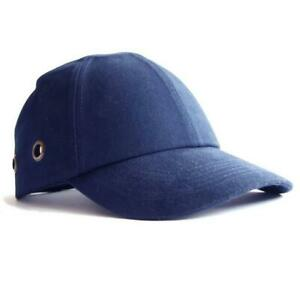 Vented Bump Cap Baseball Style Blue Protective Head Wear