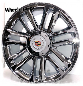 20 Inch Chrome Cadillac Escalade Platinum Oe Replica 5358 Rims 6x5 5 31 New 4x