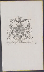Collins Percy Earl Of Northumberland 98 1768 The Peerage Of England