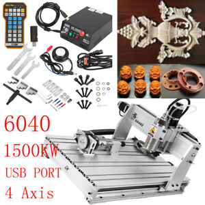 1500w 4 Axis 6040 Cnc 6040 Router Engraver Engraving Milling Machine Usb Fourth