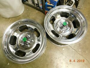 Polished Vintage 15x7 Shelby Cal Slot Mag Wheels Ford Mopar Dodge Van Mustang Gt
