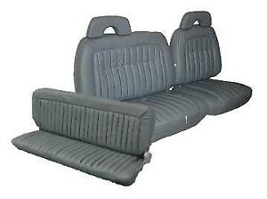 Chevy Extended Cab Vinyl Seat Upholstery For Front 60 40 Bench Rear 1992 1995