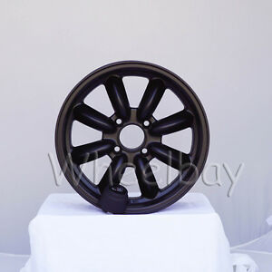 4 Pcs Rota Rb Wheels 16x7 4x114 3 4 Flat Black Big Caps