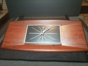 Mid Century Modern 20 Inch Vintage Wood Wall Clock General Electric