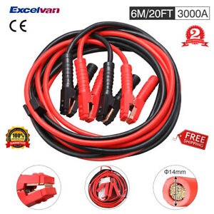 20ft 3000a Heavy Duty Booster Jumping Jumper Cable Car Battery Zipped Carry Case