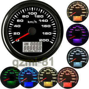 85mm Digital Gps Speedometer Gauge Odometer 200km H Motorcycle Marine Waterproof