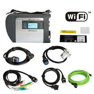 Dhl Mb Sd C4 Connect Compact 4 Star Diagnosis Multiplexer Wifi For Cars Trucks