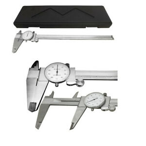 12 Shockproof Dial Caliper Stainless Steel001 Grad Calipers Ruler W Case