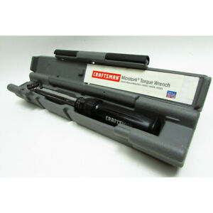 Craftsman 44593 Microtork 25 250 In Lbs 3 8 In Drive Torque Wrench