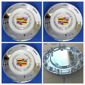 4 Pcs 2007 2014 Cadillac Escalade Colored Crest 22 Wheel Center Caps 9596649