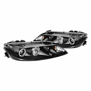 New Set Of 2 Lh Rh Halo Projector Headlights For Mazda 6 2003 2006
