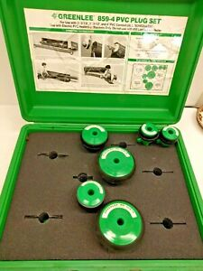 Greenlee Model 859 4 Pvc Pipe Plug Set 2 4 With Case