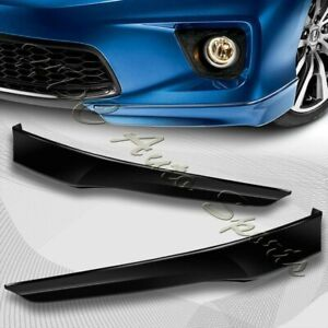 For 2013 2015 Honda Accord 2 dr Hfp style Black Front Bumper Spoiler Lip 2pc