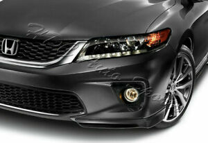 For 13 15 Honda Accord Coupe 2dr Hfp Style Carbon Style Front Bumper Spoiler Lip