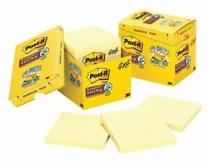 Post it Super Sticky Notes 4x4 In Yellow Pk12 4 X 4 Canary Yellow
