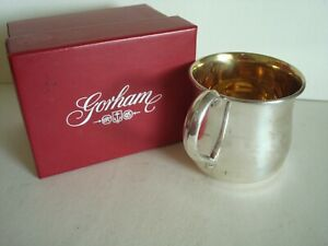 Gorham Sterling Silver Gold Wash Baby Cup 1944 Excellent No Monogram