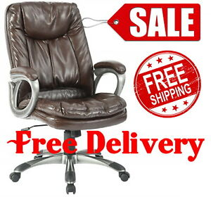 400lbs Heavy Duty Office High Back Chair Big And Tall Leather Executive 400 Lb