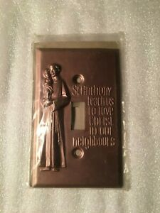St Anthony Vgt Metal Wall Light Switch Plate Italy Religious Christian M 272